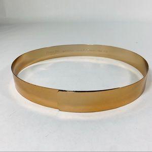 Christian Dior Vintage Metal Gold Dipped Belt